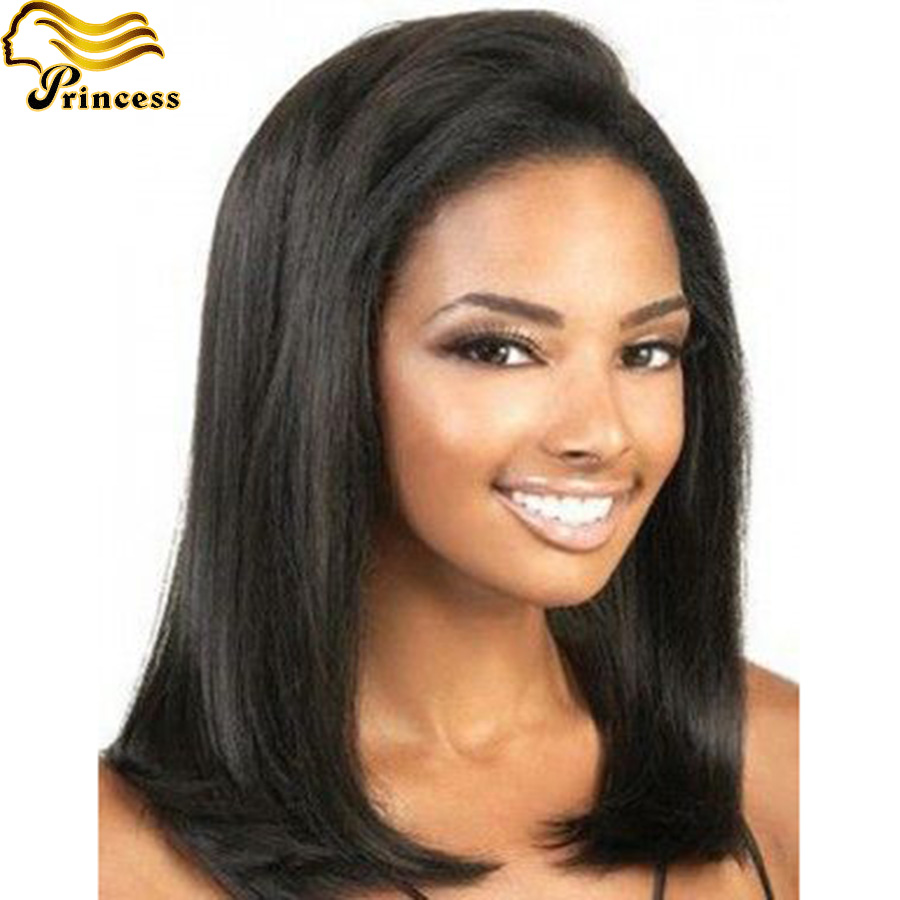 Yaki Straight Human Hair Lace Front Wigs Black Women Brazilian Full Lace Human Hair Wigs With Baby Hair Glueless Full Lace Wigs<br><br>Aliexpress