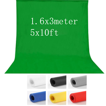 7colors 1.6X3m Non Woven Photography studio Green Screen Chroma key Background Backdrop for Studio Photo lighting 5x10ft(China)