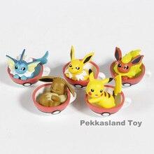 Pikachu Eevee Jolteon Vaporeon Flareon Mini PVC Figures Toys 5pcs/set
