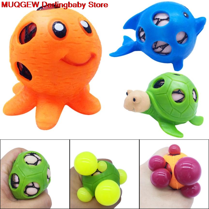 Welding Helmets Colorful Frogs Model Grape Venting Balls Squeeze Toys Squishy Anti Stress Fun Funny Gadget Interesting Toys Kid Gift Decoration Pure White And Translucent