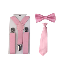 High Quality Baby Boy Toddler Butterfly Bowtie+Suspender Set Solid Color Ties Party TR0007(China)