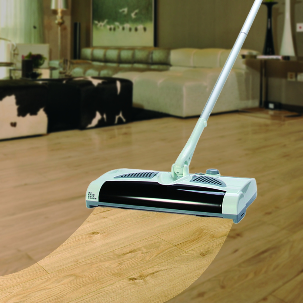 W - S018 2 in 1 Sweeping Machine Rotatable Cordless Electric Robot Cleaner Sweeper Drag Sweeping Machine for Home - EU Plug<br>
