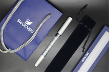 swarovski crystal Pen with Gift brand retail box case handbag pouch Diamond swarovski elements crystal roller ball Pen Xmas(China)