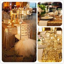 "50""X80""Gold Sequin Tablecloth Wedding Cake Tablecloth ,Rectangle/Square Sequins Table Linen Wedding Sequin Table Linens(China)"