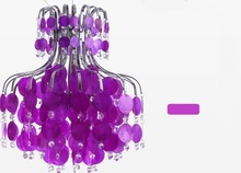 Sea rock shells natural pendant light Contracted iron crystal droplight purple/pink restaurant bedroom living room lighting ZAG