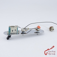 1 Set GuitarFamily Electric Guitar Wiring Harness ( 2x 250K Pots + 3-Way Switch + Jack ) With Control Plates ( #1096 )(China)