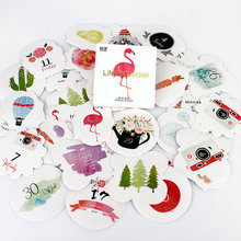 45Pcs/Pack Natures calendar Stickers Pack Bookmarks Kawaii Planner Scrapbooking Sticky Stationery Escolar School Supplies2017(China)