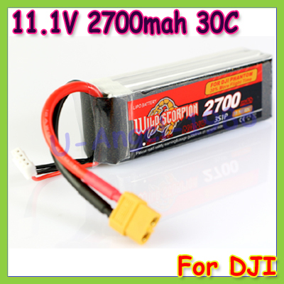 High quality Wide scorpion 11.1V 2700mAh 30c 3S1P battery For DJI PHANTOM LiPo-battery as BlackMagic 11.1V 2700mAh 25c<br><br>Aliexpress