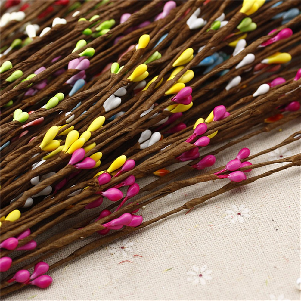 Cheap 10pcs High Quality Artificial Wreath Flower Small Berry Rattan Lp Latin Percussion Bongo City 601 Ny Cmw Carved Mango Wood Pip Garland For Diy Party Wedding Banquet Us642