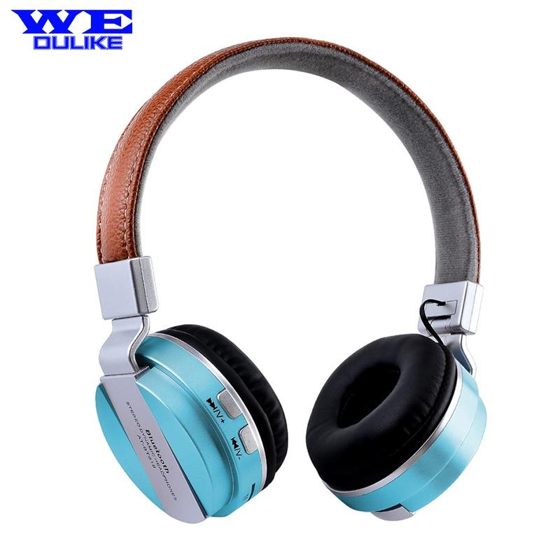 Wedulike High-quality fashion metal texture metal earphone wireless Bluetooth headset Bluetooth headphone wireless card<br><br>Aliexpress