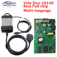 2014D Full Chip For Volvo Vida Dice Diagnostic Tool Vida Dice Pro For Volvo With EWD Software As Free Gift Professional Scanner(China)