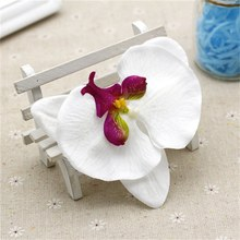 10pcs 10CM Big Silk Artificial Orchid Flower For Home Wedding Party Decoration Cymbidium Scrapbooking Supplies Orchis Plants(China)