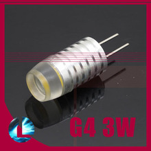 20 pcs 3W G4 CREE LED Aluminum Light Bulb DC 12V cool/ warm white for chandelier crystallights Replace 20W Halogen Lamp