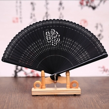 Free Shipping 30pcs High-grade Bamboo Carving Craft Gift Fans Mini 17cm Pocket Fan Japanese Folding Fan Home Decoration Crafts