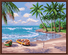 Hot holiday beach city landscape painting art Home Furnishing wall decoration wall decoration modern abstract oil painting Q414