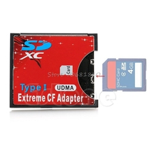 Speed SDXC SDHC SD to CF Compact Flash Memory Card Reader Adapter Type I High #K400Y# DropShip