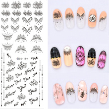 Nail Art Sticker Adesivo Unhas Water Transfer Sticker Wraps Stickers for Nails Design Fingernails Tattoo Decals Manicure ZJT029