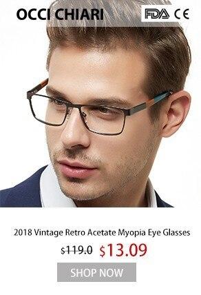 3416d43385 OCCI CHIARI Men Glasses Frame Optical Men Man Classic Square Acetate Eyeglasses  Frames Myopia Glasses Spectacles W-CACCI