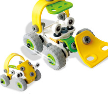 1 Piece Hot Creative DIY Bulldozer Plastic Nut Combined Assembly Model Toy For Children Two Kinds Of Form Educational Model Toys(China)