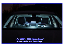 Canbus Car Interior light LED Bar kit for 2003-2012 Honda Accord  4 Door Sedan or 2 Door Coupe,Car LED Dome+Map+Door+Trunk+Plate