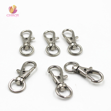 GHRQX Hot Sell 5 pcs  Lobster Bag Key Rings Silver Tone Kay chain  32mm x13mm Alloy Key Chains  DIY Jewelry Material