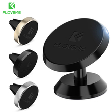 FLOVEME 2 Types Luxury Magnetic Car Phone Holder For iPhone Universal GPS Magnet Air Vent Dash Board Movil Stand Holder Soporte(China)