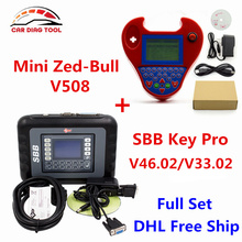 DHL Free SBB Silca V33.02 SBB Key Programmer V46.02 + Smart Mini Zed-Bull V508 Zedbull Zed Bull Auto Key Transponder No Tokens(China)