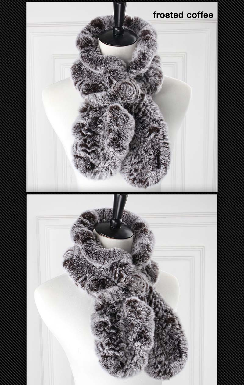rex wavy scarf frosted coffee