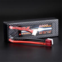 Best Deal Reachargeable Lipo Battery Giant Power 11.1V 6000mAh 3S 65C Lipo Battery T Plug Hardcase Pack For RC Model