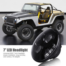 Universal Motorcycle 7Inch LED Headlight Round LED Projector Headlamp for Motorcycle Harley Davidson Jeep Wrangler JK TJ