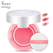 2016 BIOAQUA colorful moisturizing air blush cream calm makeup rouge paste blush high quality nude make up new face blusher(China)