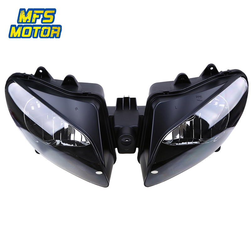 2X Motorcycle Headlight Cover Lens Shield Protector for Yamaha YZF R6 1998-2002 Blue