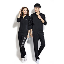 Trainning Exercise Sets Lovers Autumn sports suits Confortable Cotton Breathable TOP+PANTS Couples  Morning Jogging Sportswear