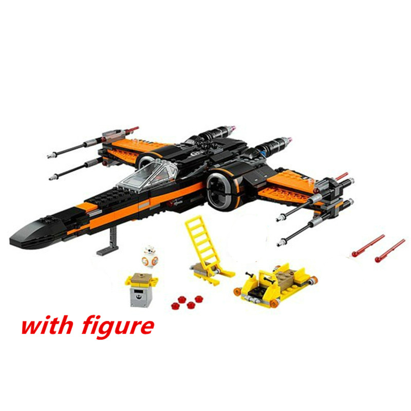 lepin Star wars 05004 compatible legoing starwars 75102 X-wing  First Order Poes X-wing Fighter model building blocks brick Toy<br>