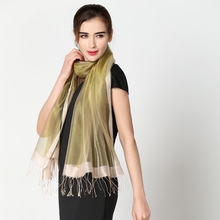 Women Silk Long Scarf Bandanas Head Shawl Veil Scarves For Women Scarf Collar Ring Scarves Sunscreen Wrap Pareo 16 Color Select