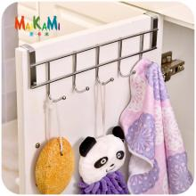 MAIKAMI Stainless Steel Bathroom Kitchen Organizer Hanger Hooks With 5-Hook Towel Hat Coat Clothes Cabinet Draw Door Wall Hooks(China)