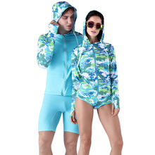 SABOLAY How lovers Camo Style Rash Guards Two Piece Beachwear Dive Skins Lycra Surfing Suit  UV Protection Water Sports Suits