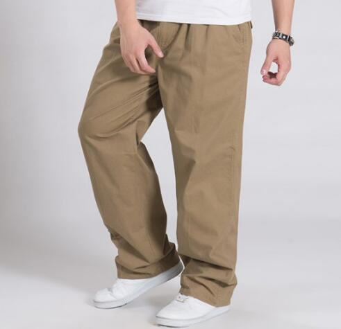 Big Size Cargo Pants Men Hip Hop Harem Trousers Casual Loose Wide Leg Pockets Pants 6XL 4XL TOPS Brand black 3XL hiphop cotton