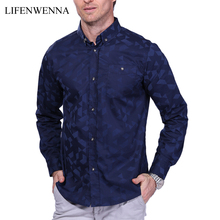Buy 2017 New Arrival Men's Fashion Jacquard Weave Shirt Casual Long Sleeve Shirt Mens Clothing Trend Slim Fit Mens Office Shirts 5XL for $14.22 in AliExpress store
