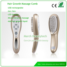 Hair Loss Treatment Chargeable Hair Care Vibration Massage LED therapy Laser Electric Hair Growth Comb Brush(China)