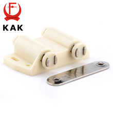 KAK Double Cabinet Catch Kitchen Door Stopper Soft Quiet Close Magnetic Push to Open Touch Damper Buffers For Furniture Hardware(China)