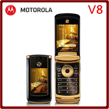 V8 Original Unlocked Motorola RAZR2 V8 2GB/512MB ROM 100% Good Quality Refurbished Mobile Phone Free Shipping
