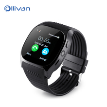 Ollivan T8 Bluetooth Smart Watch With Camera Music Player Facebook Whatsapp Sync SMS Smartwatch Support SIM TF Card For Android(China)