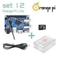 Orange Pi Lite SET12: Orange Pi Lite+ Transparent ABS Case+ Power Cable + 16GB Class 10 Micro SD Card Beyond Raspberry