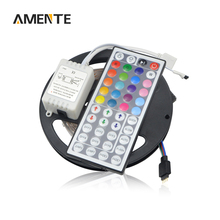 5M / roll Flexible 12V Lamp Strip 2835 300LEDs LED Stripe Light Fita With 44 Keys Remote Controller For Bar Christmas Lighting
