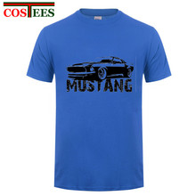 2017 Vintage model Mustang t shirts men Ford mustang t-shirt men's tshirt mustang emblem shirts automobile accessories tee shirt