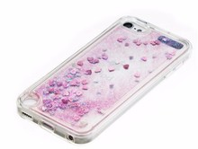Liquid quicksand bling glitter PU cover case for apple ipod touch 5 touch6 back soft cases for ipod touch 6 capa cases