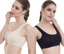 Womens Seamless Sports Yoga Bra Leisure Crop Top Tank Vest Belly Dance Comfort Stretch Bras Underwear Padded Shapewear M/L/XL