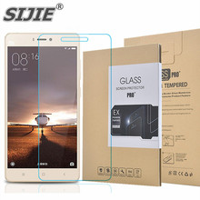 SIJIE Tempered Glass For XIAOMI 4S 0.26mm MI4S MI 4S Screen Protector front stronger 9H discount with Retail Package Hard BOX