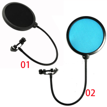 2016 Hot Sale Double Layer Studio Microphone Mic Wind Screen Pop Filter Swivel Mount Mask Shied For Speaking Recording